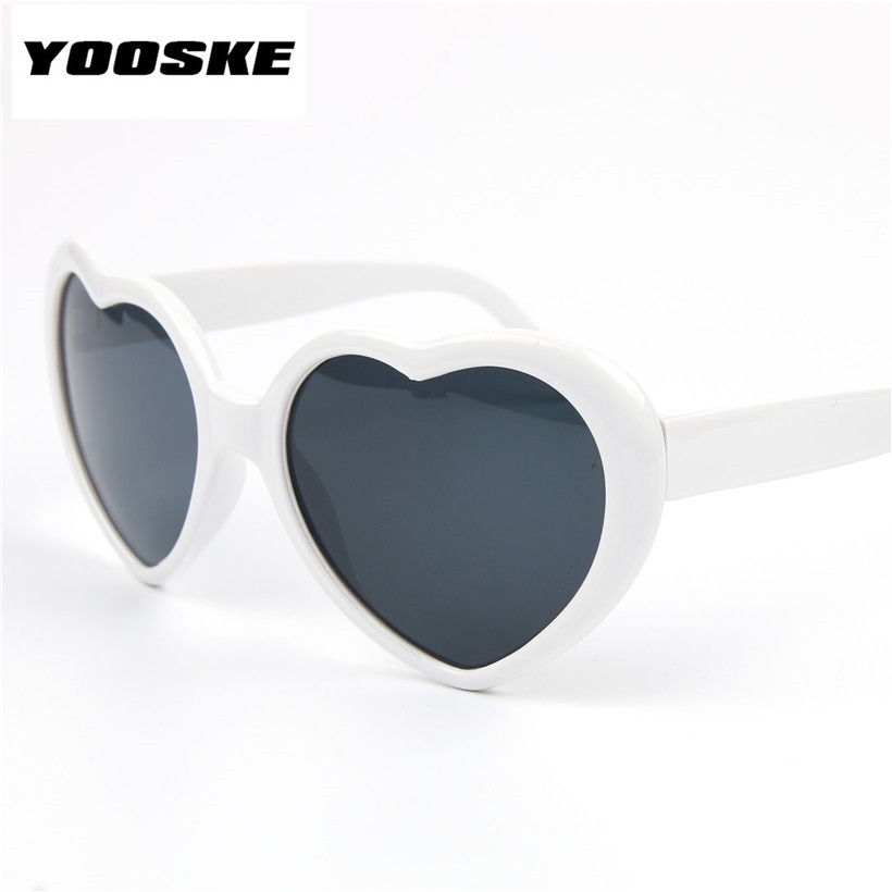 YOOSKE Love Heart Shaped Solglasögon Goggles Sun Glasses For Women Childen Boy Girl Baby Brand Designer