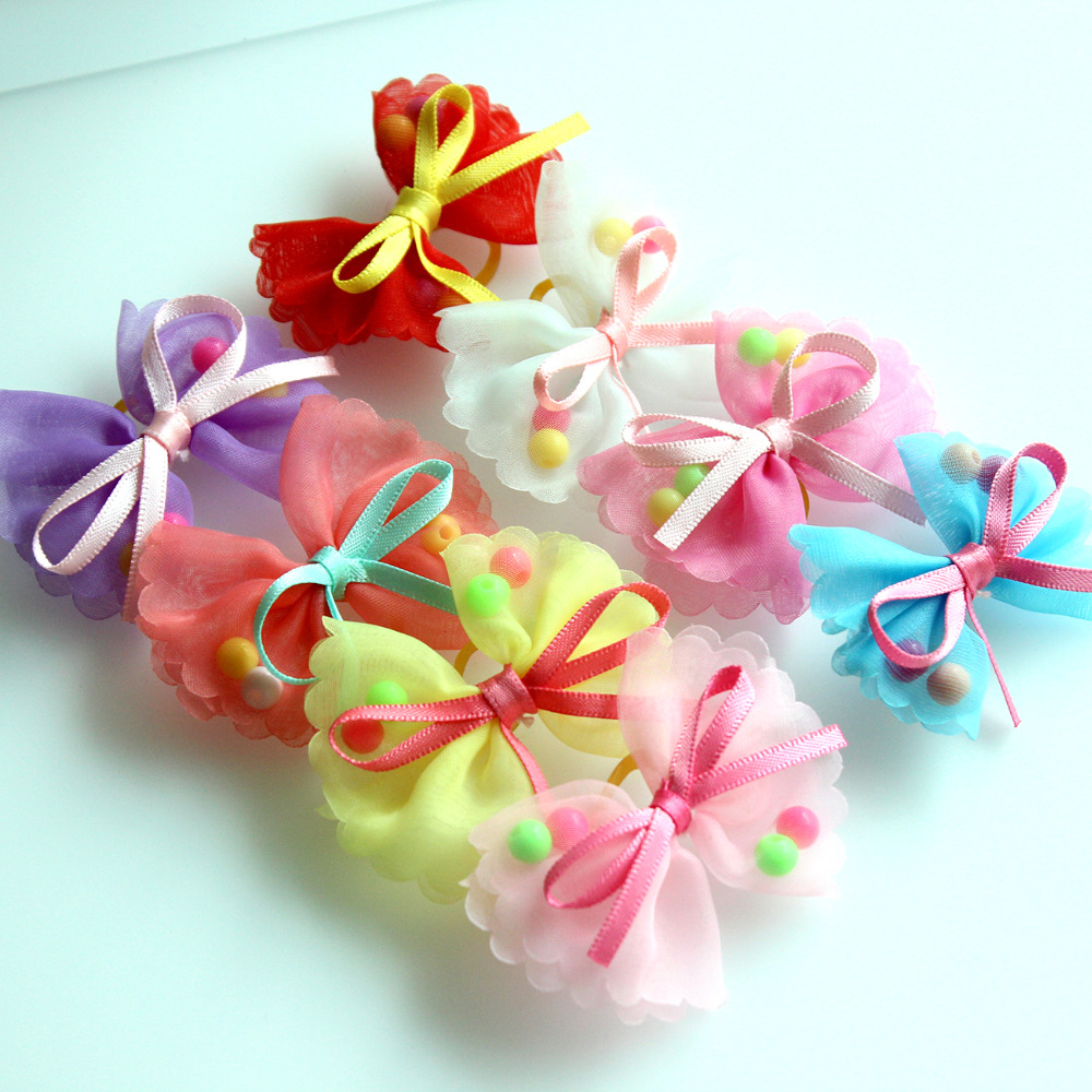 10pcs Of Lovely Yorkie Hair Bows Pins