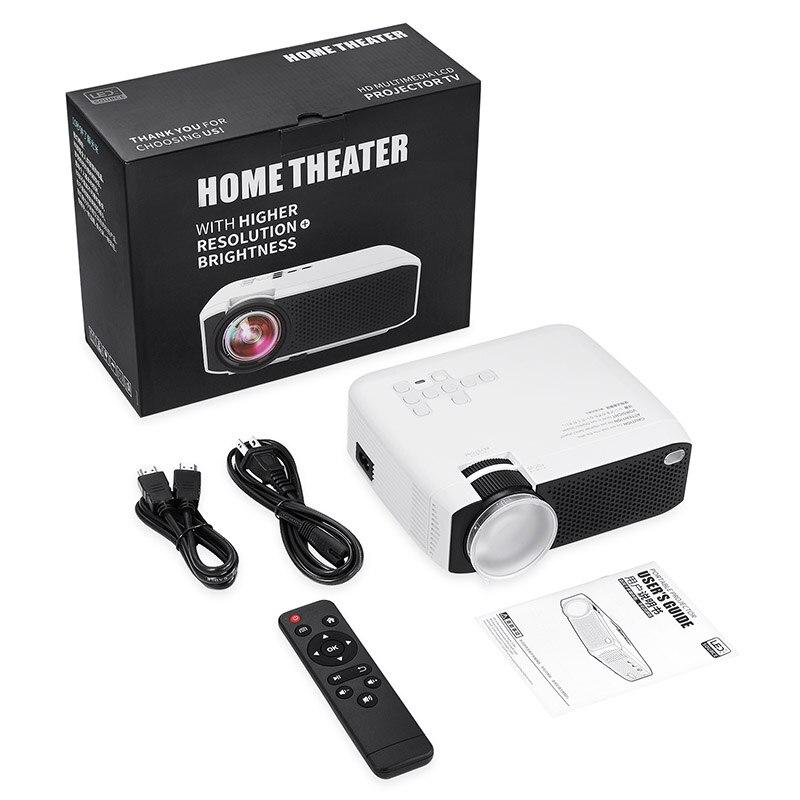 Projecteur haute résolution connecter un téléphone intelligent Durable pour le bureau de cinéma maison QJY99