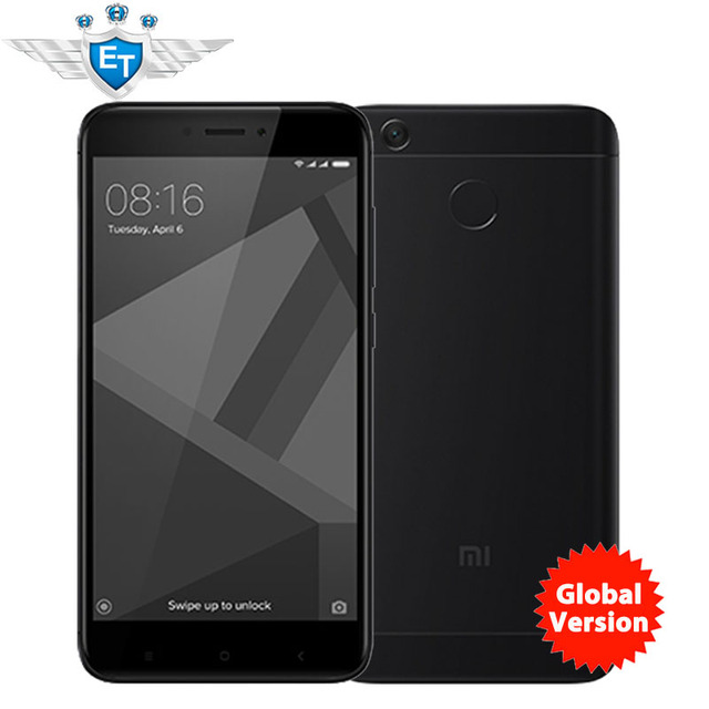 "Глобальная версия Xiaomi Redmi 4X Pro смартфон 3 ГБ 32 ГБ 5.0 ""HD Экран Snapdragon 435 Octa core 4100 мАч 13.0MP ldd LTE оты"