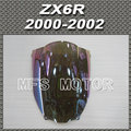 Motorcycle For Kawasaki ZX6R 2000 2002 00 01 02  Windshield/Windscreen - iridium Magic color New