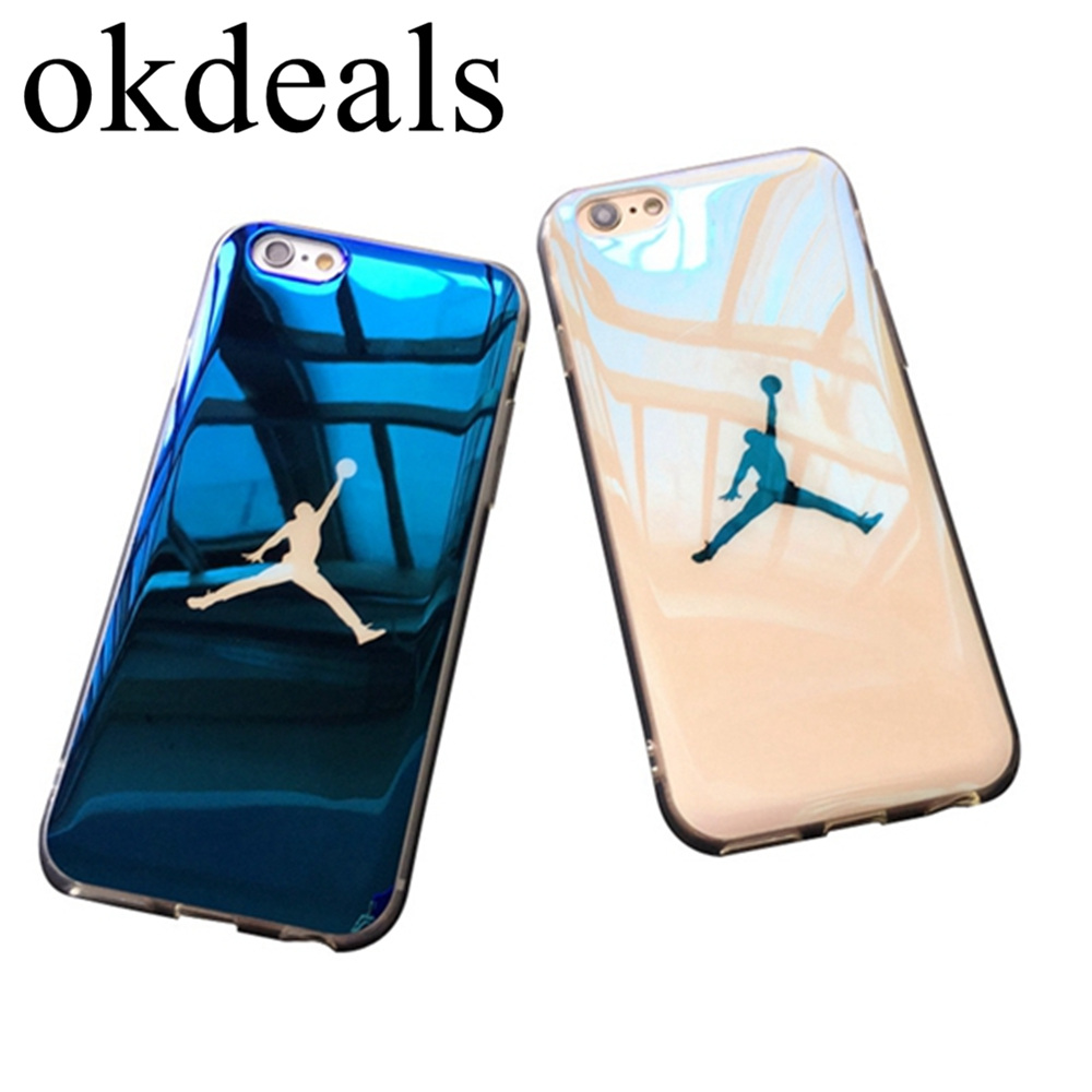 Sport Coque Michael Super Jordan soft Blu-ray laser Phone Case for iPhone X 8 8 Plus case Slim Back Cover for iPhone 7 6 6s Plus