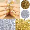 10000 Pcs/bag Gold/silver Metal Beads Nail Art Rhinestone Studs Gold 3d Nail Jewelry Charm DIY Styling Tool Nail Decorations
