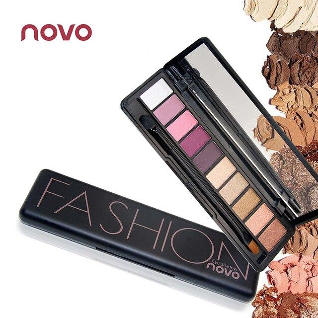 2 SZTUK eyeshaow Novo Makijaż Naturalny kolor ziemi nago eyeshadow powder Makeup Palette Shimmer Matte Eyeshadow zestaw BN010