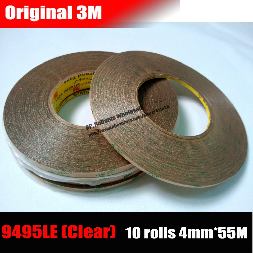 10 Rolls (4mm*55M) 3M Clear Acrylic Glue Adhesive Tape for Touch Screen, LCD Display, Camera Lens, Frame Case Panel 300LSE clear acrylic a3a4a5a6 sign display paper card label advertising holders horizontal t stands by magnet sucked on desktop 2pcs