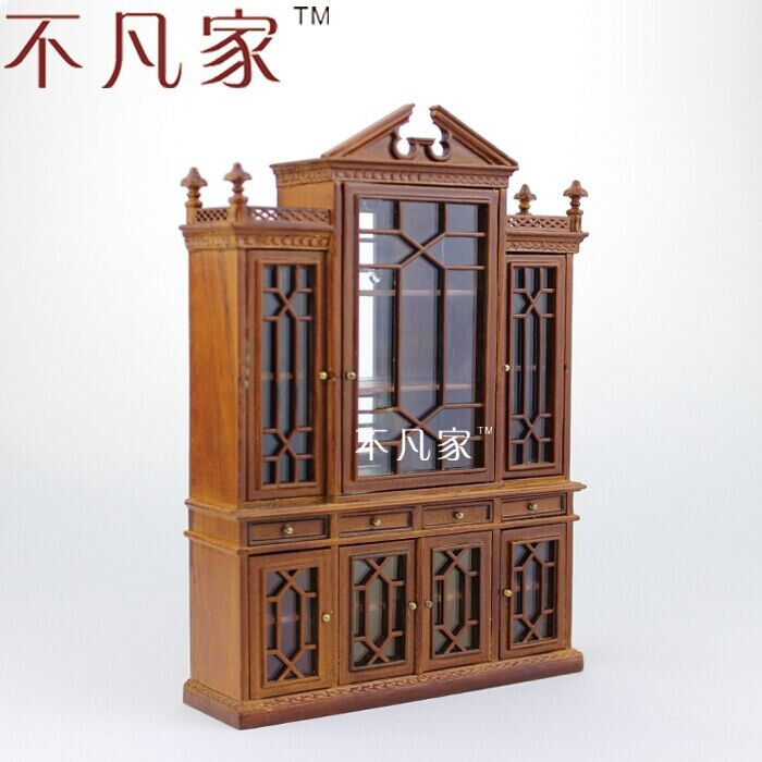 1:12 scale Fine Dollhouse  miniature furniture Grand  cabinet roomble шкаф wilson grand cabinet