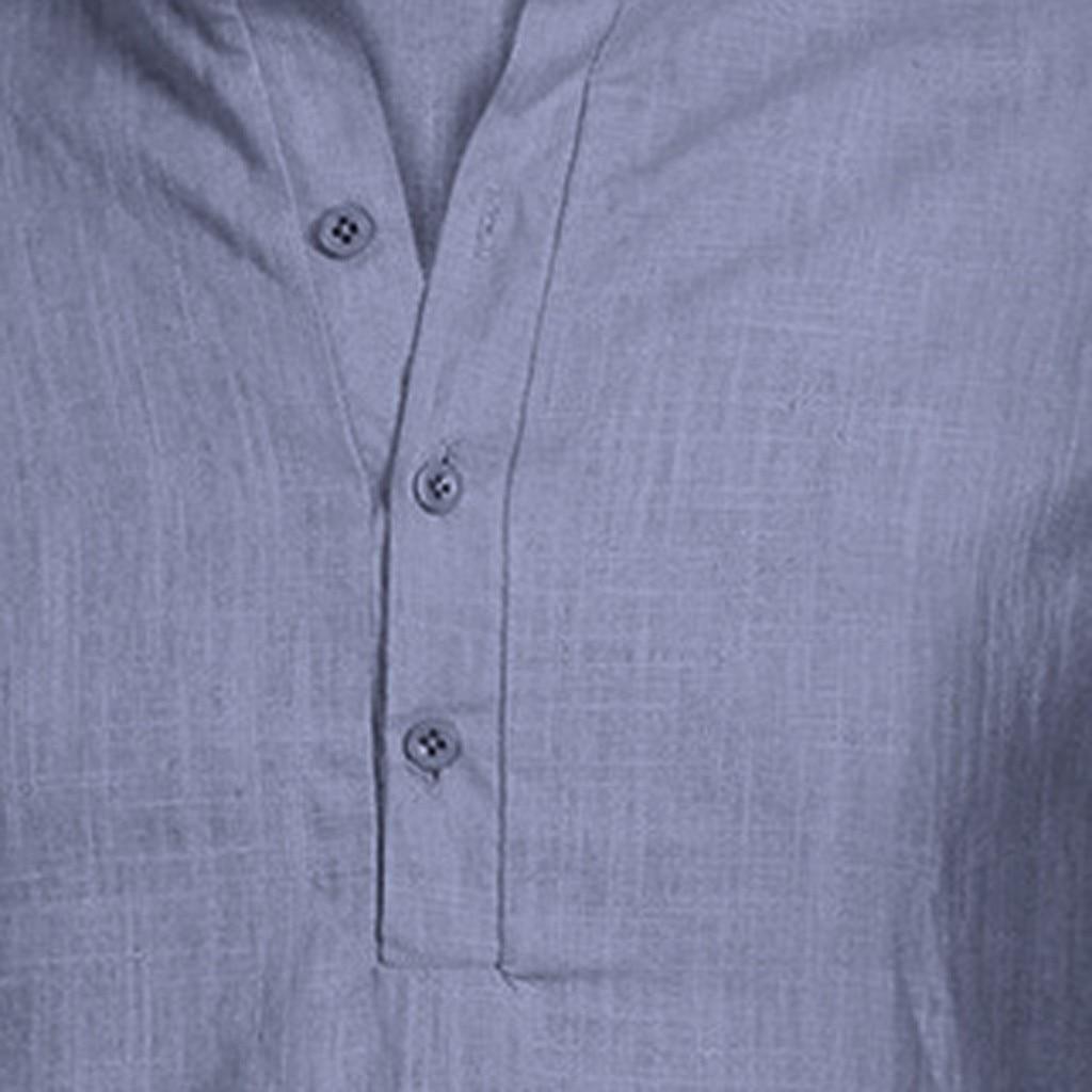 Men's Casual Blouse Cotton Linen shirt Loose Tops Short Sleeve Tee Shirt S-2XL Spring Autumn Summer Casual Handsome Men Shirt 21