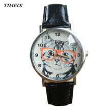 New Ladies Watches Informal Girls Watch Cat Sample Leather-based Band Analog Quartz Vogue Wrist Watch Free Transport,Jan 5