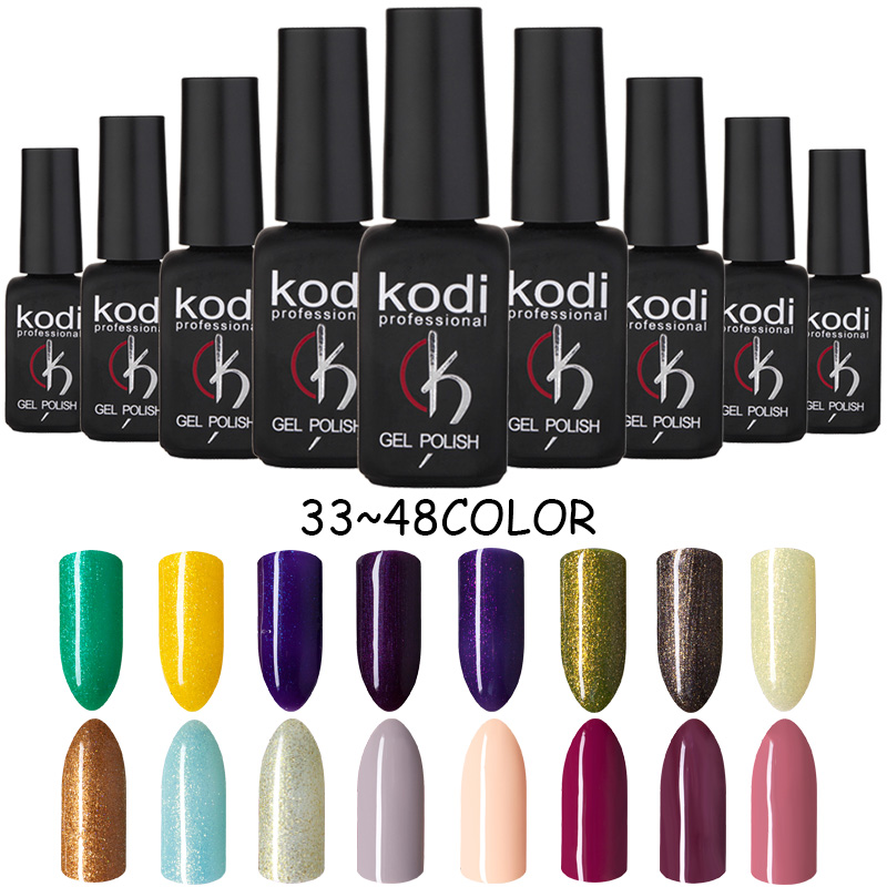 kodi nail gel base and top coat 8ml resin led varnish long lasting ...