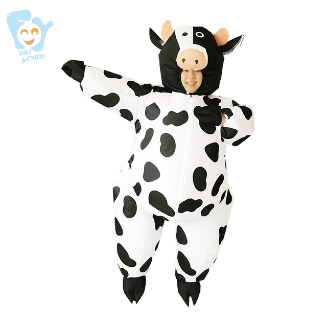 halloween costume inflatable cow costume women cosplay one piece adult fancy party dress carnival stitch costumes - Halloween Costume Cow