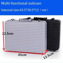Di alta qualità di vendita calda cassa di Attrezzo di Alluminio valigia cassetta degli attrezzi scatola di File di cassa della macchina fotografica di sicurezza resistente Agli Urti con il taglio di schiuma fodera