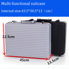high quality hot sale Aluminum Tool case suitcase toolbox File box Impact resistant safety case camera case with cut foam lining цена 2017