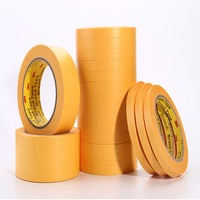 35mmx164ft 3M244 3M Scotch New Cut High Temperature Resistant Masking Paper Tape Yellow Coating, PCB SMD Shield