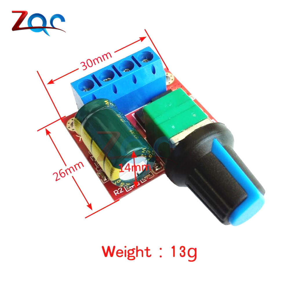 A Mini DC Motor PWM Speed Controller 4.5V-35V Speed Control Switch LED Dimmer