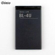 Dinto 1 PC 1000 MAh BL 4U BL4U BL 4U Li ion Pin Điện Thoại Dành Cho Nokia 3120c 5250 206 515 5330 5530XM xpressMusic 5730 6212c