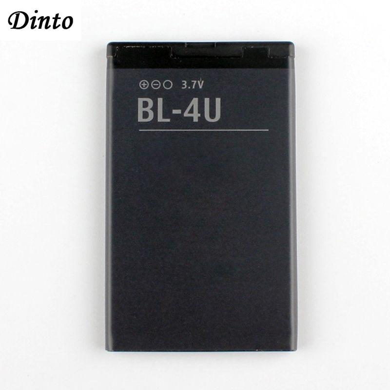 Dinto 1pc 1000mAh BL-4U BL4U BL 4U Li-ion Phone Battery For Nokia 3120c 5250 206 515 5330 5530XM XpressMusic 5730 6212c