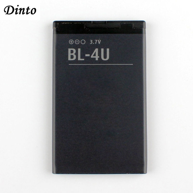 Dinto 1pc 1000mAh BL 4U BL4U BL 4U литий ионный аккумулятор для телефона Nokia 3120c 5250 206 515 5330 5530XM XpressMusic 5730 6212c