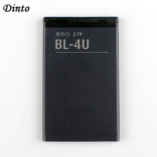 Dinto bateria de celular de lítio 4u bl, bateria de 1000mah BL 4U bl4u para nokia 3120c 5250 206 515 5330 5530xm, 1 peça xpressmusic 5730 6212c