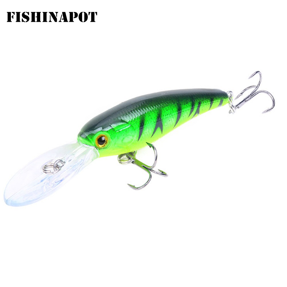 1pcs Minnow Fishing Lures Wobbler Crankbaits 9.5cm 7.2g ABS Artificial Hard Baits For Bass  Trolling Pesca Carp Fishing Tackle