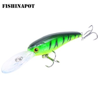 1pcs Minnow Fishing Lures Wobbler Crankbaits 9.5cm 7.2g ABS Artificial Hard Baits For Bass  Trolling Pesca Carp Tackle