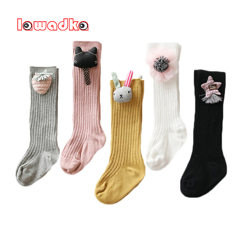 Lawadka Knee Socks For Girls Cotton Fashion Knee High Socks Girl Unisex Cartoon Socks For Boys Baby Clothes Accessories