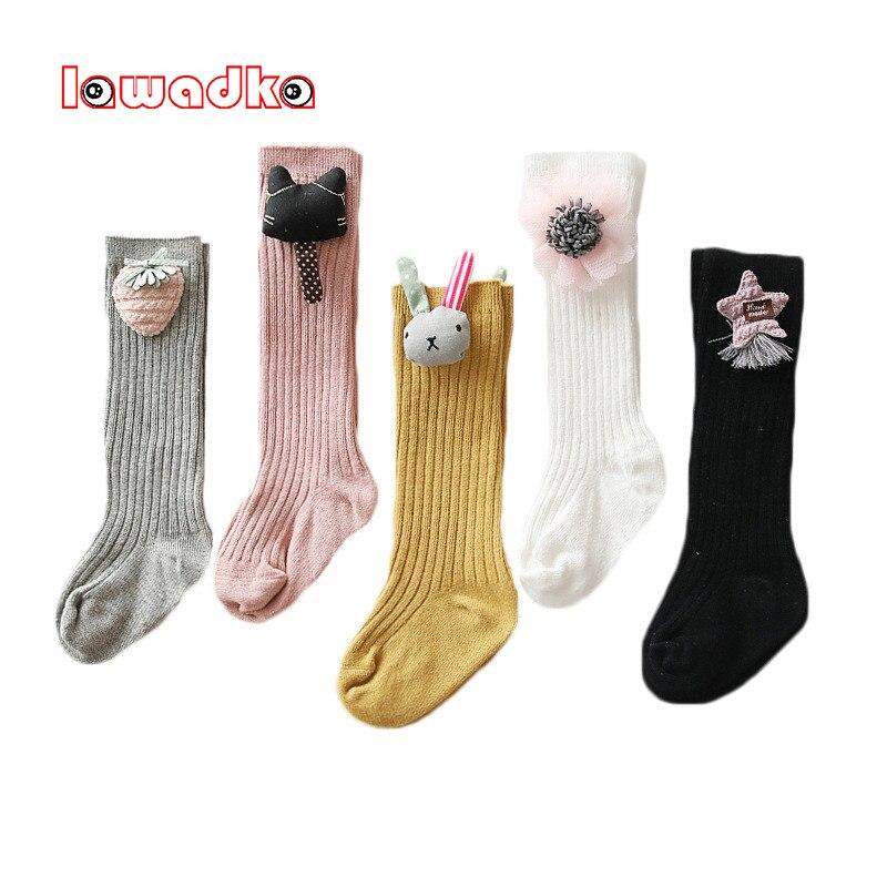 Lawadka Knee Socks For Girls Cotton Fashion Knee High Socks Girl Unisex Cartoon Socks For Boys Baby Clothes Accessories