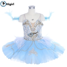 child light bluebird competition professional tutu girls classical ballet ballerina dress BT9243