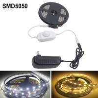 DC12V 5050 LED Strip Light 300leds 5m Smd5050 Flexible Bar Light For Switch Dimming 2A Adapter