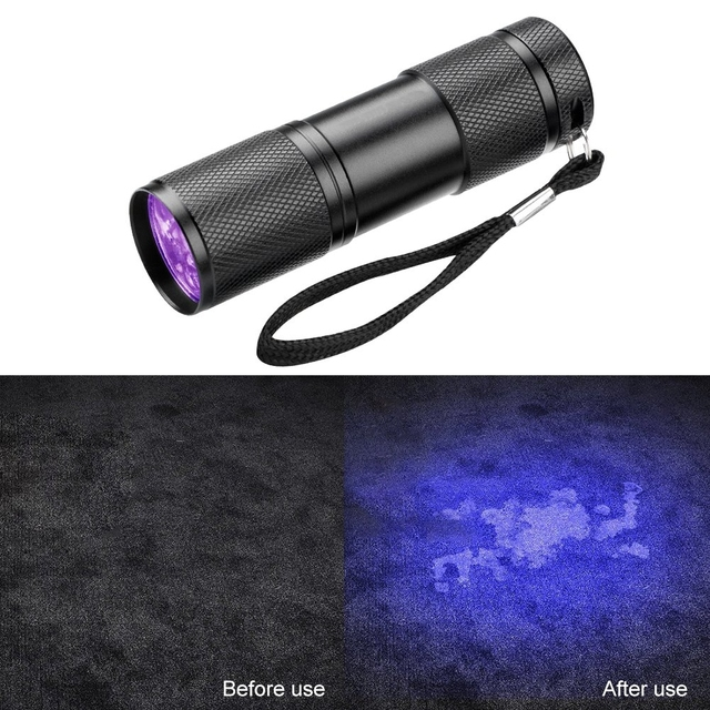 UV Flashlight 21LED 12LED UV Light 395-400nm LED UV Flashlights linterna torch Ultraviolet Black Light lamp 4