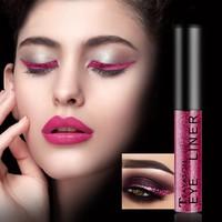 1Pcs Professional Glitter Liquid Eyeliner Pencil Metallic Shimmer Eyeshadow & Liner Combination Pen Eyes Makeup 10 Colors Eye Shadow