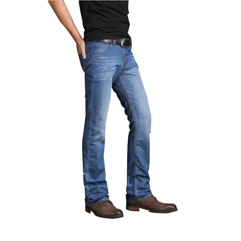 Pantalones Vaqueros Acampanados Para Hombre Pantalon Vaquero Delgado Ligeramente Acampanados Informales De Negocios Para Primavera Y Verano 2019 Pantalones Vaqueros Aliexpress