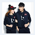 Winter Autumn Korean Style Tracksuit For women Sportwear Casual Sleeveless Jacket Hooded With Pants Three-piece Couple Sets