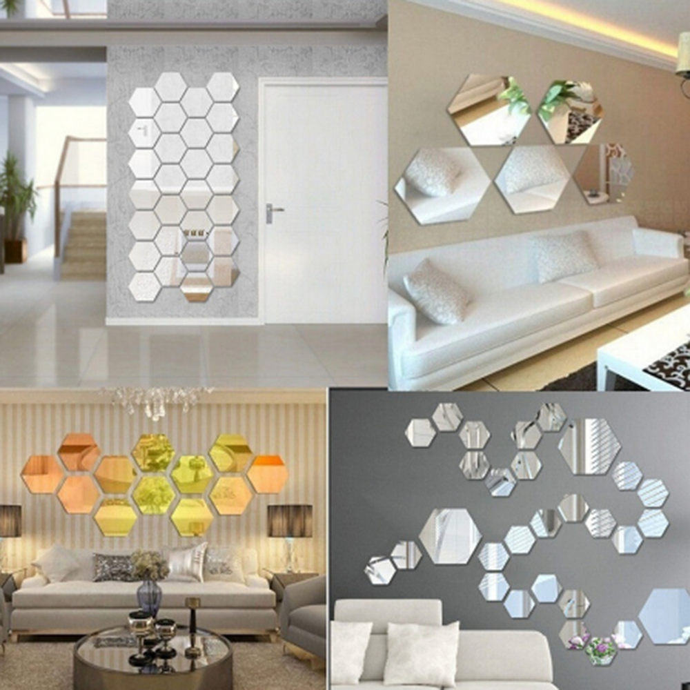 Lot 10 pcs Puzzle Acrylic Mirror Wall Decal Art Stickers Home Decor Size 1.6inch Best