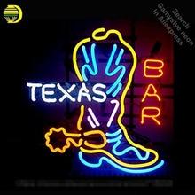 Texas Boot Neon Sign Restaurant neon bulb Sign neon lights Sign Custom LOGO glass Tube Handcraft Iconic Sign Display light up