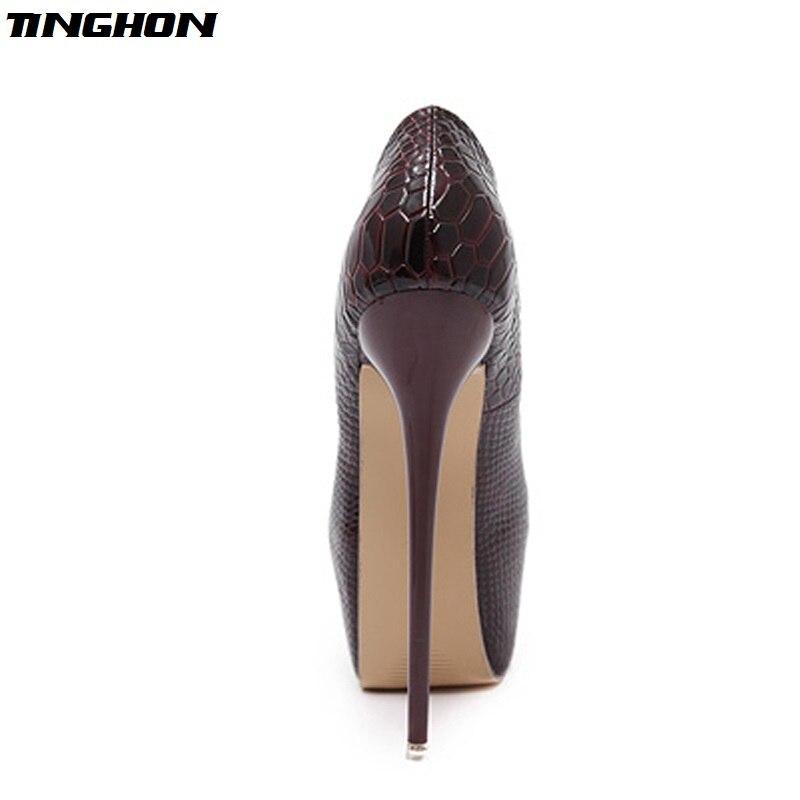 Eilyken-New-Snakeskin-Pumps-16-CM-high-With-Club-high-heels-Sexy-high-heeled-shoes-Round