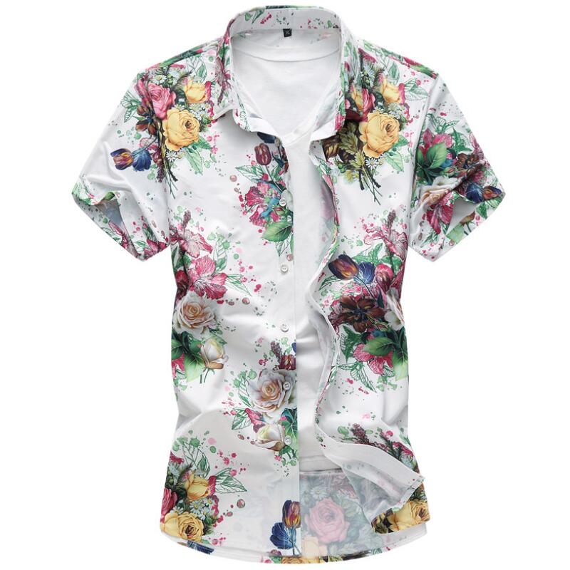 M-7XL Summer Shirt Men Camisa Jeans Mas Culinamen Clothing Mens Shirts Casual Slim Fit Big Size Shirt Men Short Sleeve