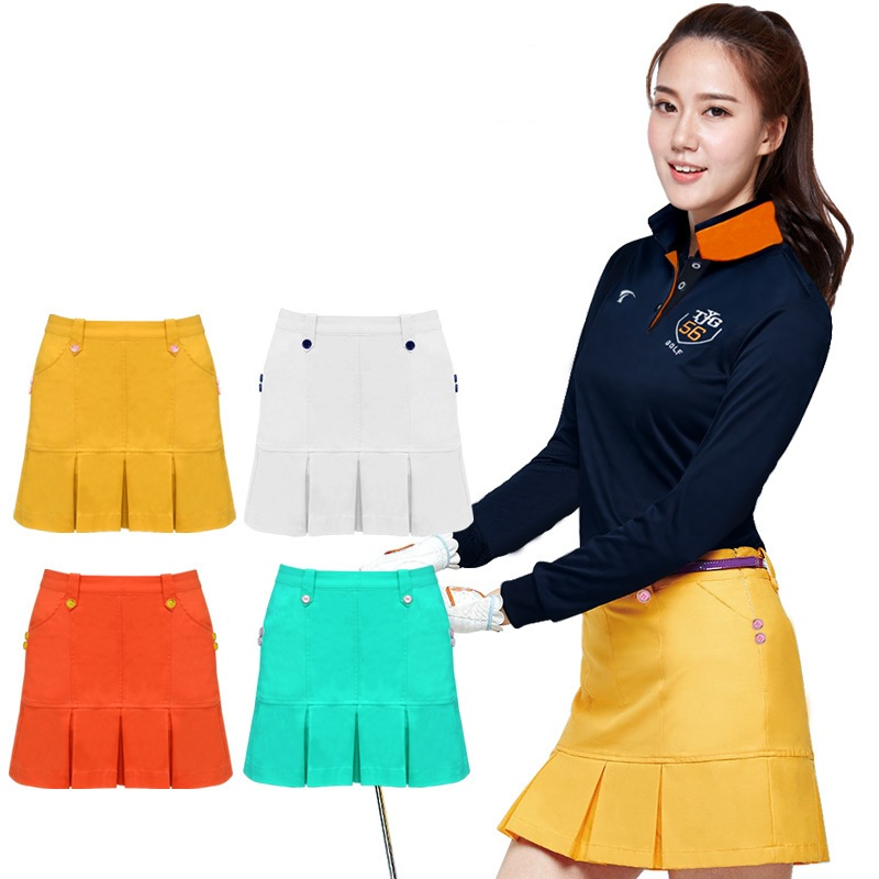 Women High Waist Golf Skirt Badminton Table Tennis Short Skirts Ladies Pleated Short Skirt Golf Clothing D0670
