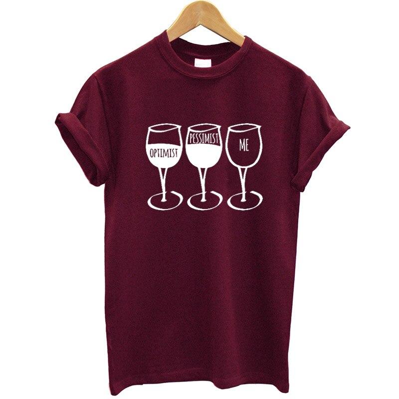 Nueva moda mujeres T camisa Copa impreso de manga corta Camiseta de cuello vino Casual mujeres Tee camisa Streetwear ropa marca