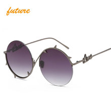Фотография 2017 Round Women Sunglasses Brand Vintage Mirror Lens Sun glasses Female Women