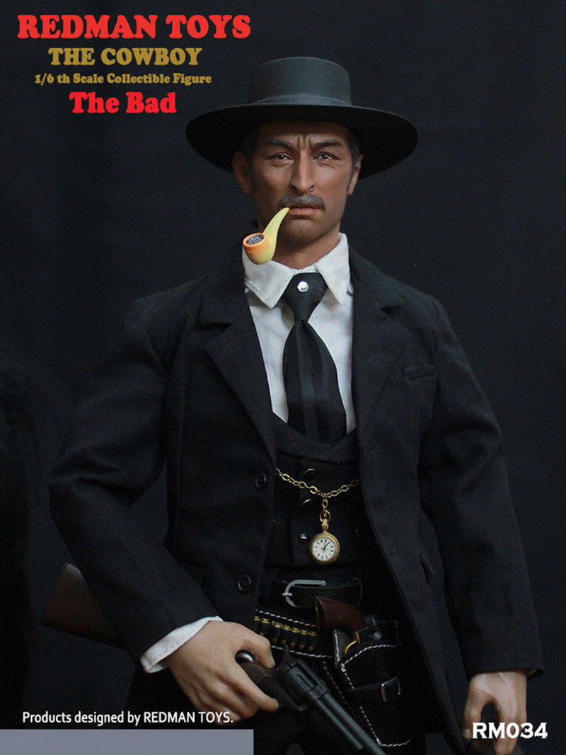 For collection REDMAN TOYS RM034 The Cowboy The Bad 1/6 Scale Full Sets Male Figure Collectible 1