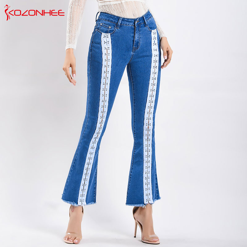 Fashion Stretch womens Flare jeans Stretching Bell-Bottoms Jeans For womens Trousers for women Flare jeans plus size