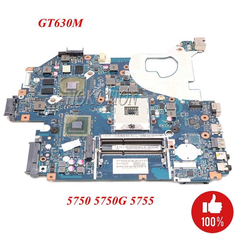 NOKOTION MB.BYX02.001 MBBYX02001 For <font><b>Acer</b></font> <font><b>aspire</b></font> 5750 <font><b>5750G</b></font> Laptop <font><b>Motherboard</b></font> LA-6901P HM65 DDR3 GT630M 1GB GPU Full tested image