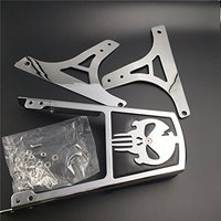 For Harley FLSTC FLSTF FLSTN FLSTS FLSTSC Motorcycle Rear Steel Metal Backrest Passenger Sissy Bar Cushion Leather Pad Chrome