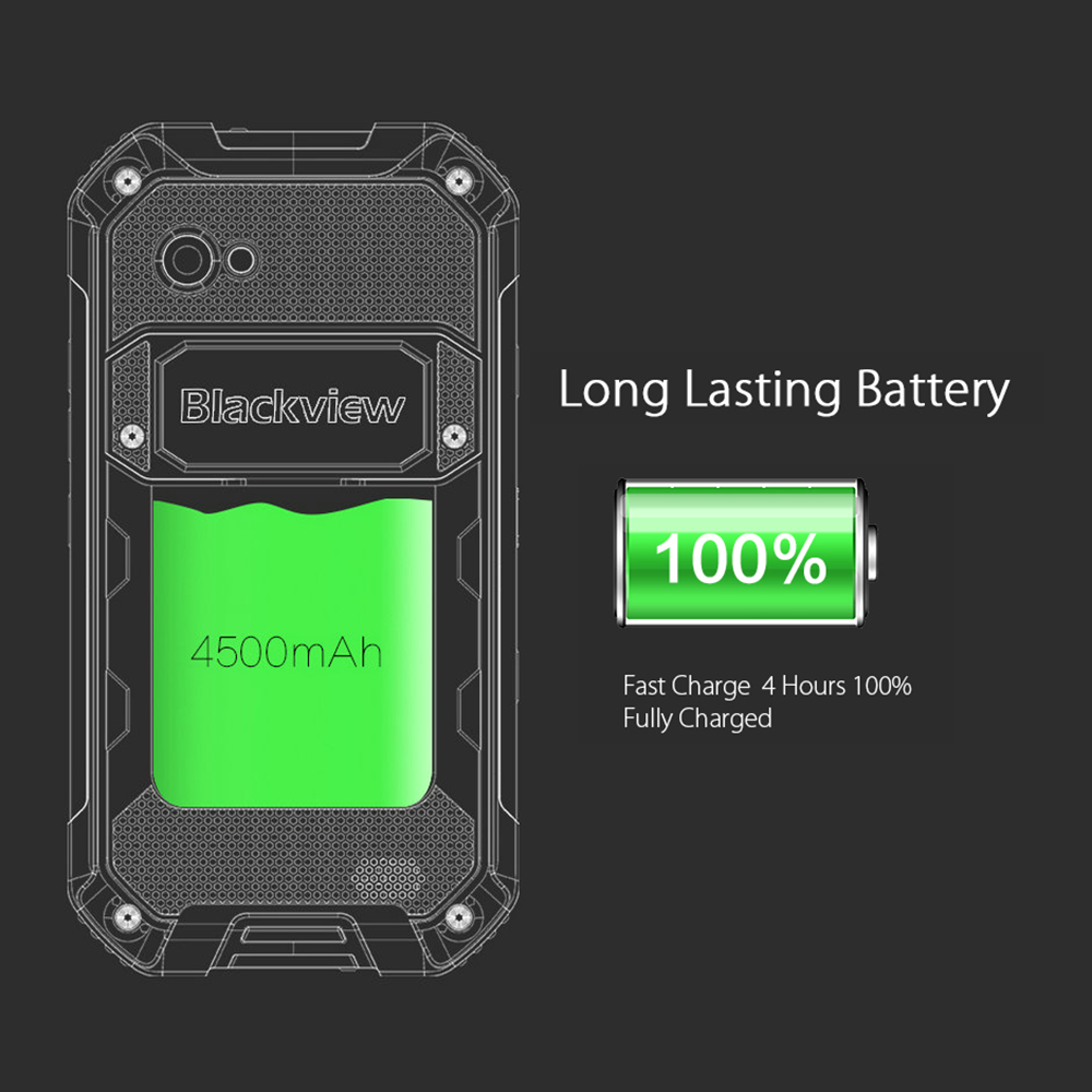 """Image 4 - Blackview BV6000S Original 4.7"""" IP68 Waterproof Rugged Mobile Phone 2GB+16GB 13.0MP 4500mAh Dual SIM 4G Tough Outdoor Smartphone-in Cellphones from Cellphones & Telecommunications"""