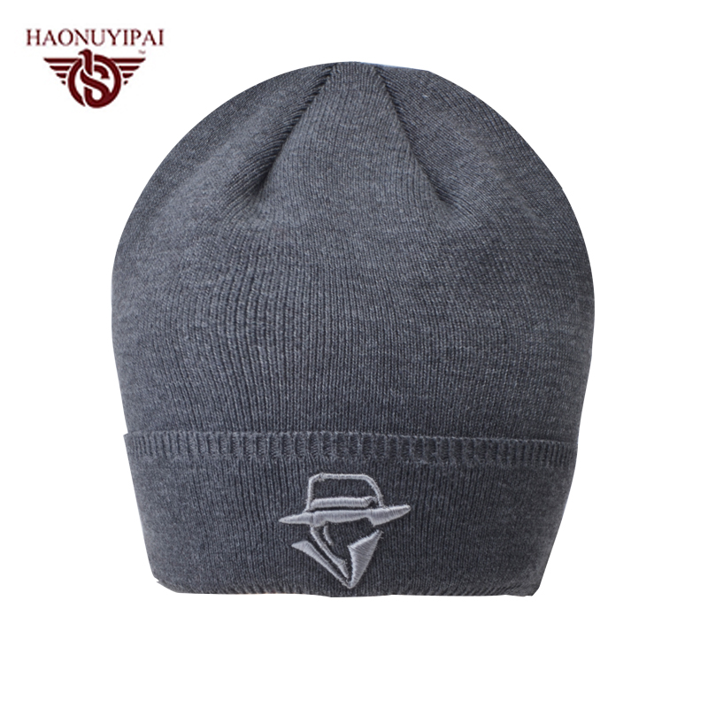 Men's Skullies Winter Wool Knitted Hat Male Brand Beanies Caps Casual Solid Color Hats For Men Custom Logo Embroidery Cap CX017 men s skullies winter wool knitted hat outdoor warm casual solid caps for men caps hats