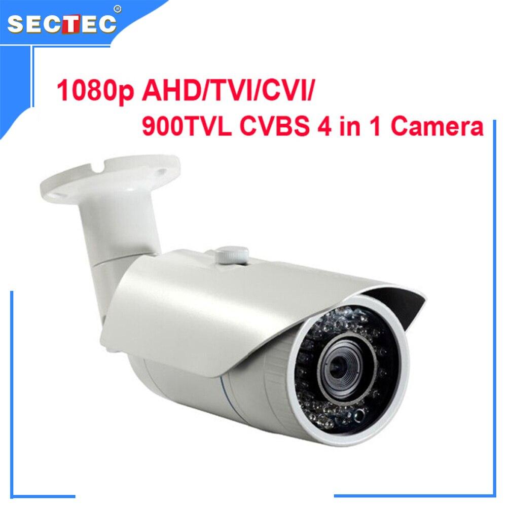 ФОТО 4 in 1 Camera 1080P AHD/TVI/CVI/ 900TVL CVBS Megapixel CS 6 mm mount lens 40M IR range IP66 Waterproof IR Camera CCTV Camera
