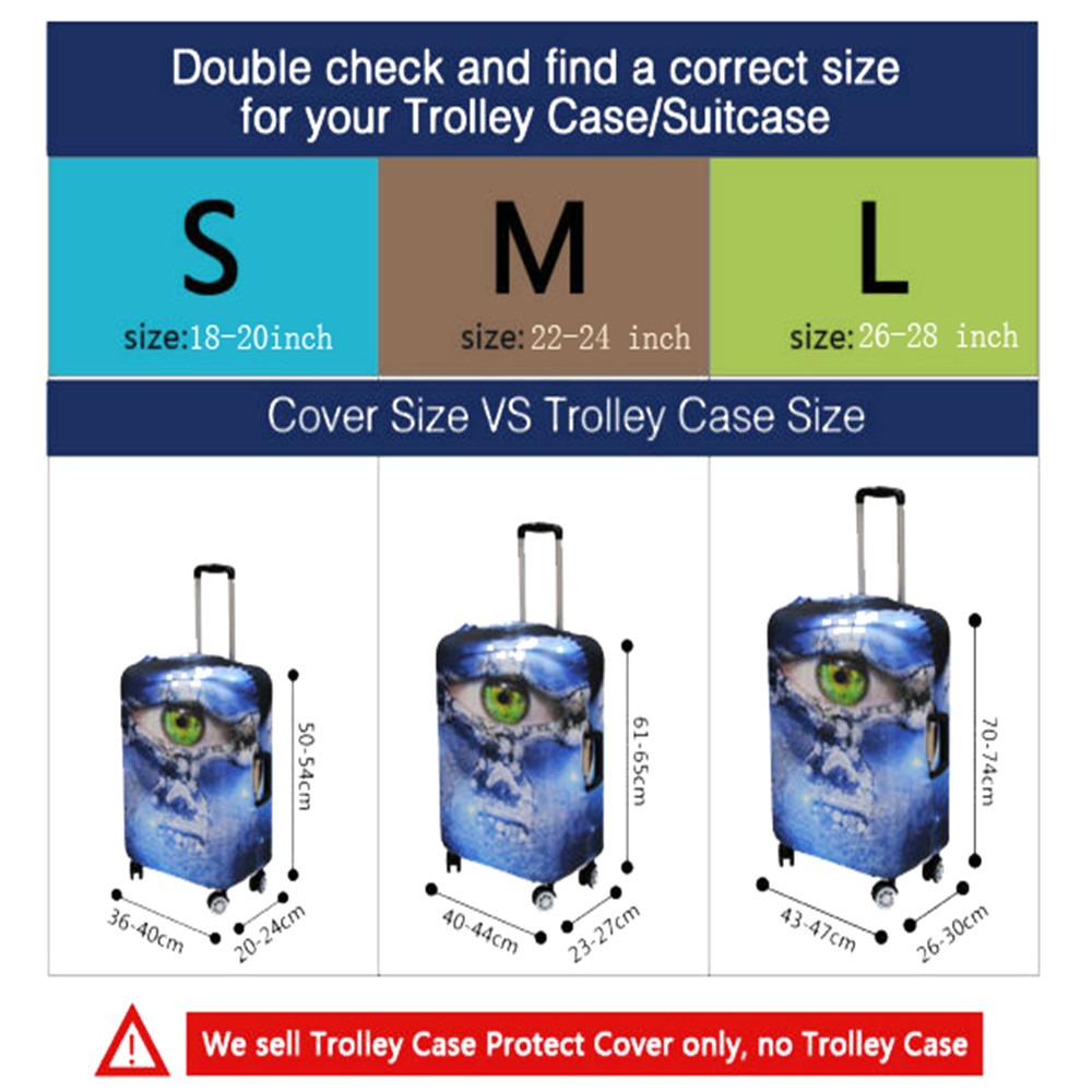 tampa do caso Modelo Nº : Luggage Conjunto Cover