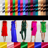 1 12 Color 93 Pure Natural Mulberry Silk 7 Spandex Stretch Satin Lining Clothing Fabric Dresses