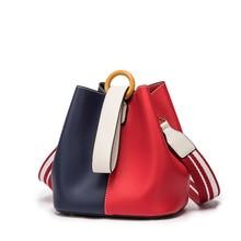 DOODOO Brand Women Handbag Tote Bucket Bag Female Shoulder Crossbody Bags Ladies Pu Leather Wide Shoulder Straps Top-handle Bag недорого