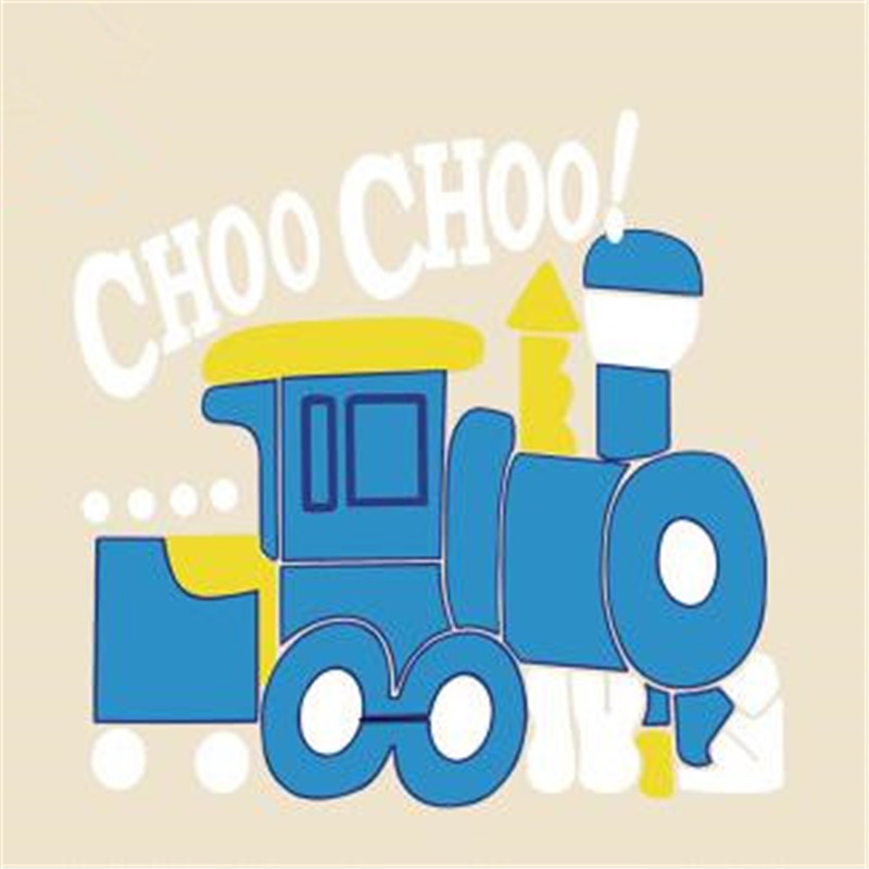 T shirt Women patch 18cm cartoon railway engine iron on patches for clothing transfer printing top clothes for girls stickers